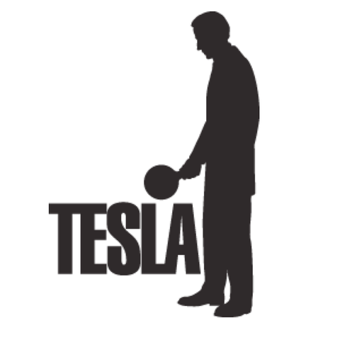 Tesla Statue Sticker