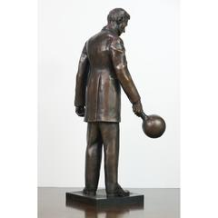 "Tesla Statue 18"" Bronze Artist Replica Limited Edition"
